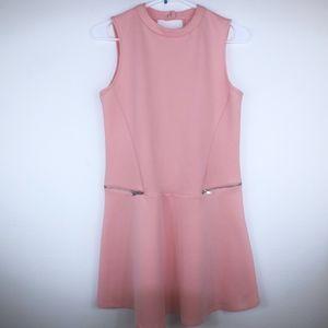 Zara Trafaluc pink skater dress size medium